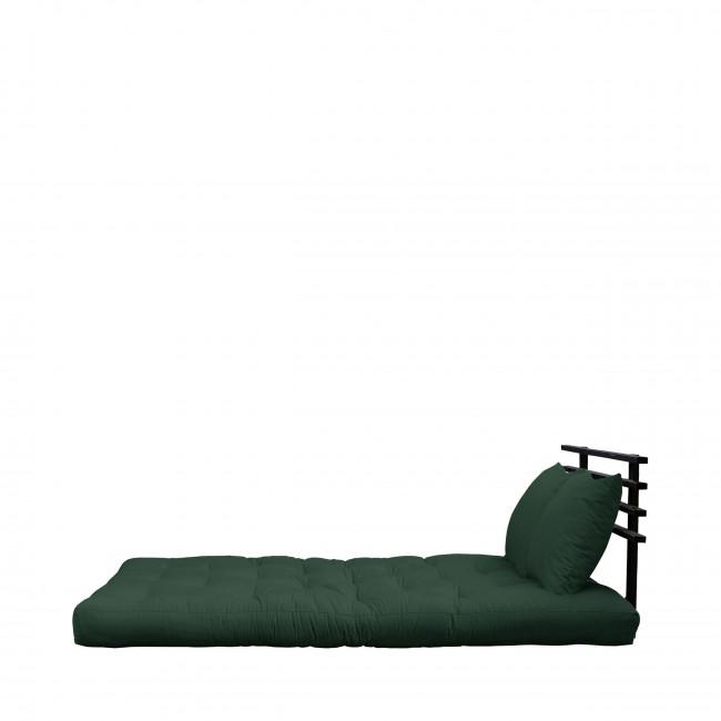 Shin Sano - Canapé convertible en bois noir et tissu