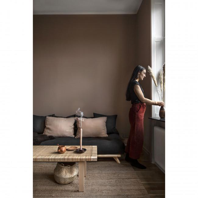 Senza - Daybed en bois naturel et tissu