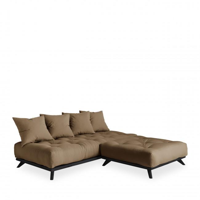 Senza - Daybed en bois noir et tissu