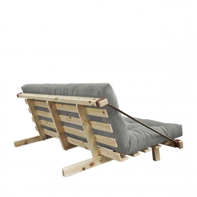Jump - Canapé convertible en bois naturel et tissu