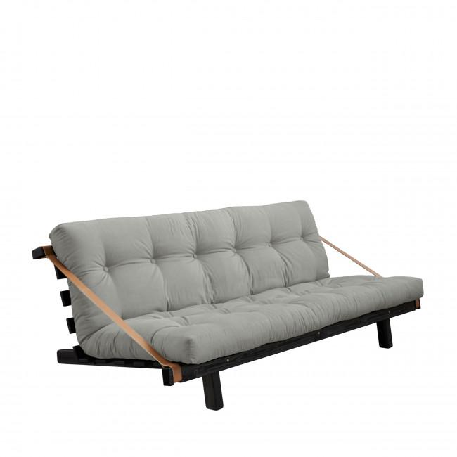 Jump - Canapé convertible en bois noir et tissu