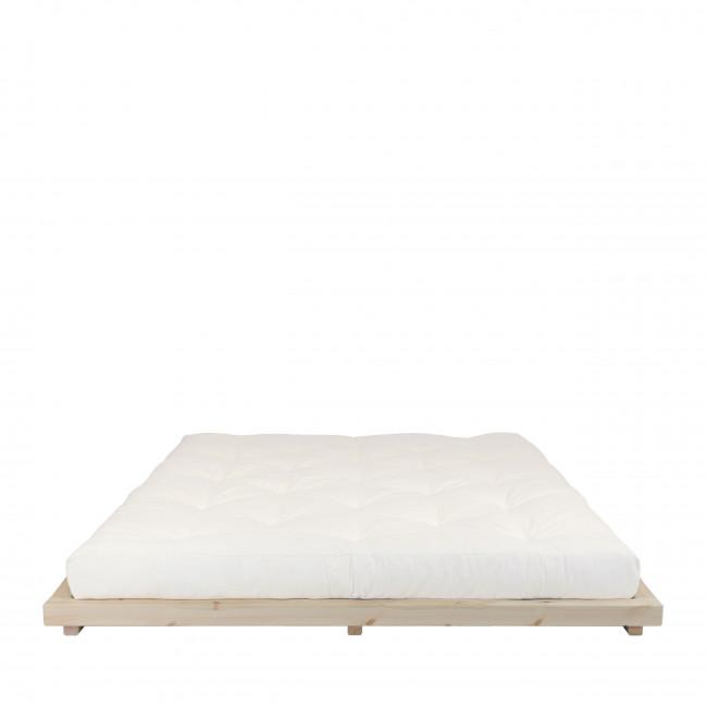 Dock - Ensemble lit en bois naturel 160x200cm et futon épaisseur 15cm