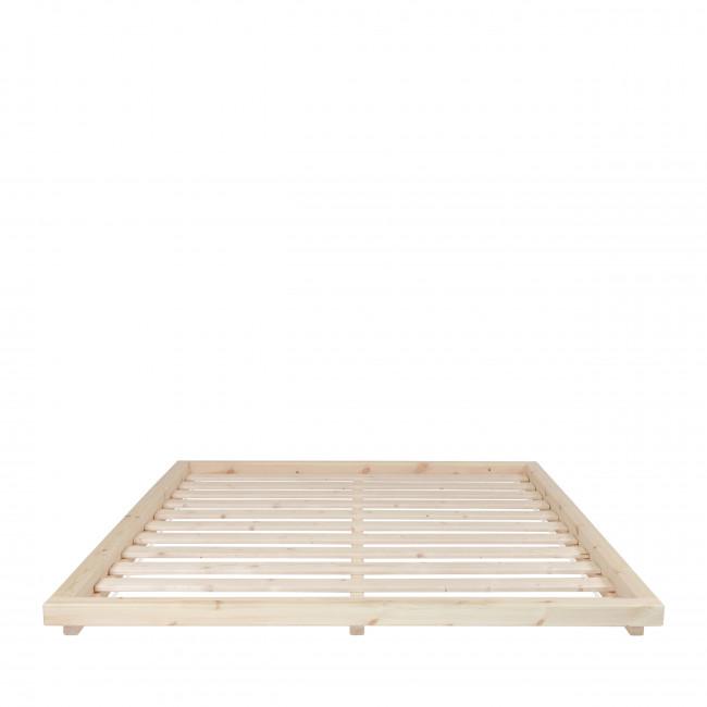Dock - Ensemble lit en bois naturel 160x200cm et futon en latex épaisseur 18cm