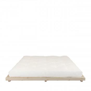 Dock - Ensemble lit en bois naturel 180x200cm et futon épaisseur 15cm