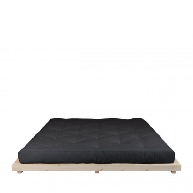 Dock - Ensemble lit en bois naturel 180x200cm et futon en latex épaisseur 18cm