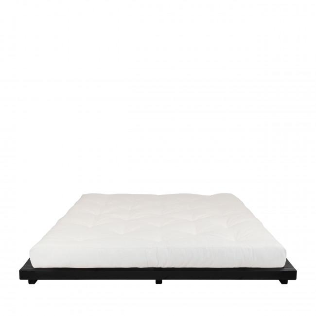 Dock - Ensemble lit en bois noir 160x200cm et futon épaisseur 15cm