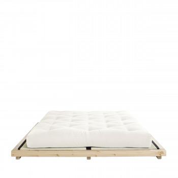 Dock - Ensemble lit en bois naturel 160x200cm tatami et futon épaisseur 15cm