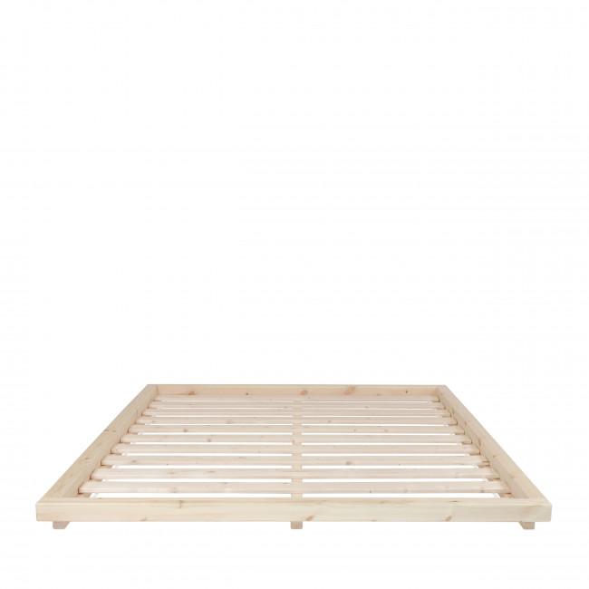 Dock - Ensemble lit en bois naturel 160x200cm tatami et futon en latex épaisseur 18cm