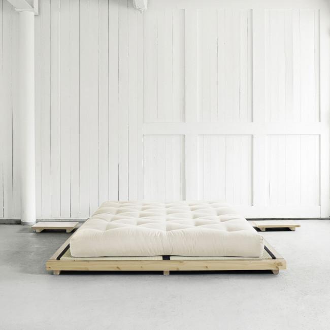 Dock - Ensemble lit en bois naturel 180x200cm tatami et futon épaisseur 15cm