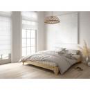 Elan - Ensemble lit en bois naturel 180x200cm et futon épaisseur 15cm