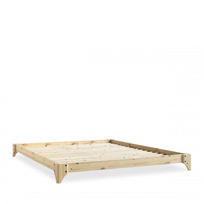 Elan - Ensemble lit en bois naturel 160x200cm tatami et futon en latex épaisseur 18cm