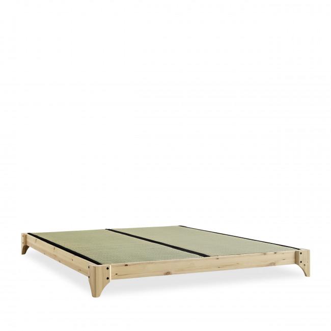 Elan - Ensemble lit en bois naturel 180x200cm tatami et futon en latex épaisseur 18cm