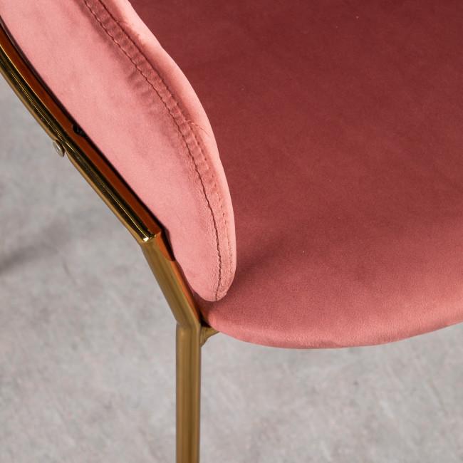 Binford - 2 chaises pieds dorés en métal et velours