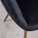 Letchee - Fauteuil coquillage en velours