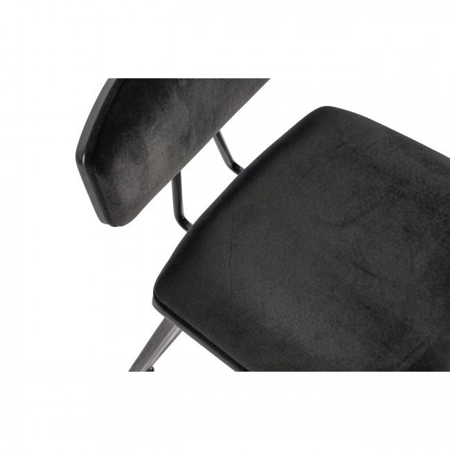 Senn - 2 tabourets de bar velours et métal
