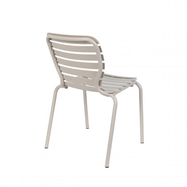 Vondel - 2 chaises de jardin en métal