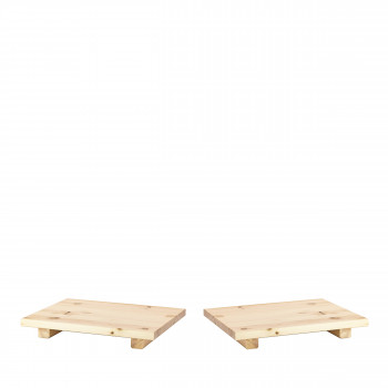 Dock - 2 tables de chevet en bois