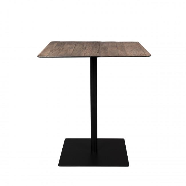 Braza - Table de bar carrée en métal et bois 70x70cm
