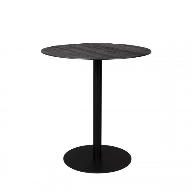 Braza - Table de bar ronde en métal et bois ø75cm