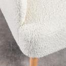 Brooks - Fauteuil rétro en tissu bouclette