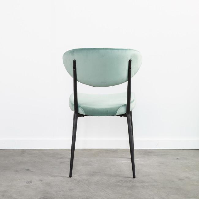 Grafton - 2 chaises en métal et velours