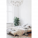 Senza - Ensemble lit en bois naturel 160x200cm et futon épaisseur 15cm