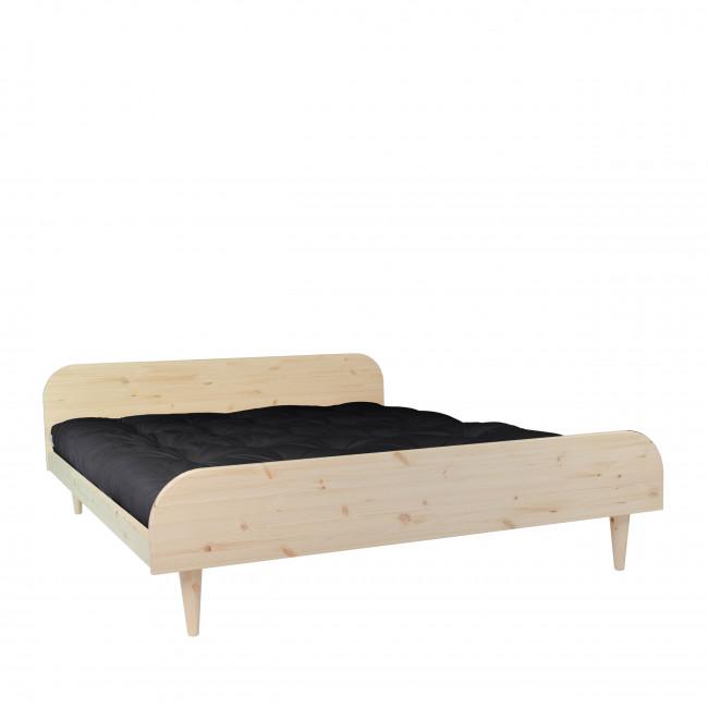 Twist - Ensemble lit en bois naturel 160x200cm et futon épaisseur 15cm