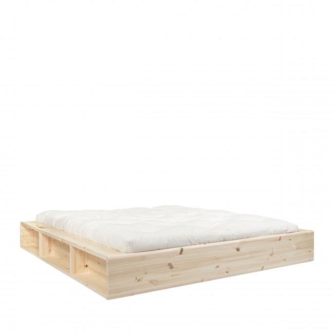 Ziggy - Ensemble lit en bois naturel 140x200cm et futon en latex épaisseur 18cm