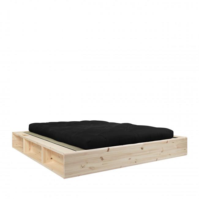 Ziggy - Ensemble lit en bois naturel 160x200cm tatami et futon épaisseur 15cm