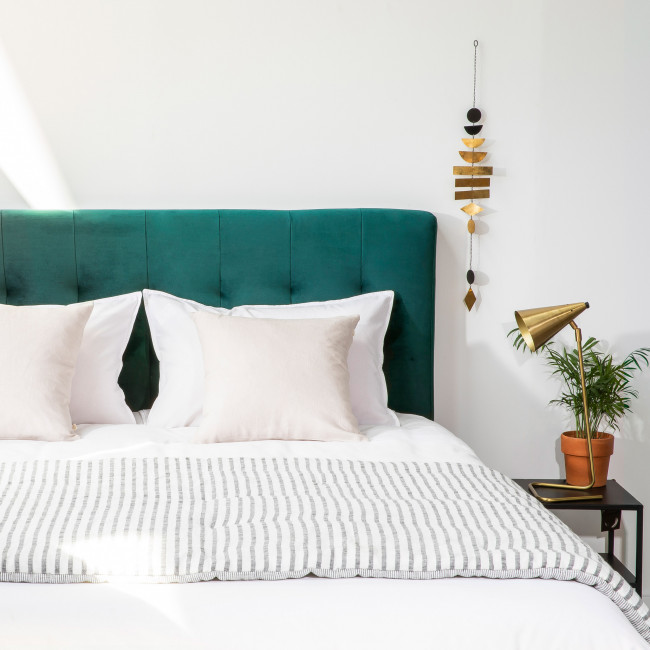 Nabucco - Tête de lit en velours 160 cm