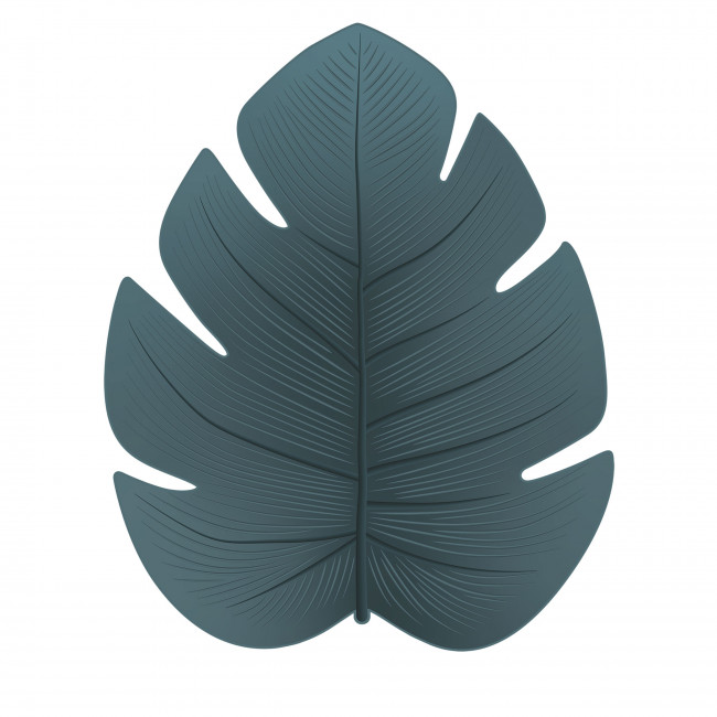 Jangalo - Tapis vinyle vert eucalyptus forme feuille