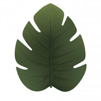 Jangalo - Tapis vinyle vert forme feuille