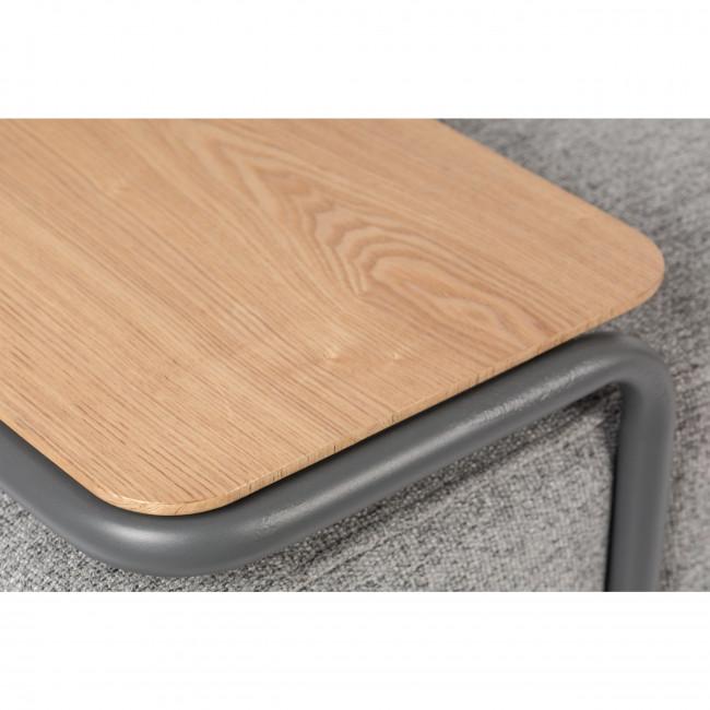 Star - Méridienne en tissu et métal avec tablette en bois