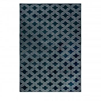 Tapis à motifs bleu marine Feike