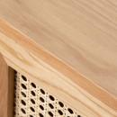 Meuble tv design 2 portes bois et rotin Hogarn
