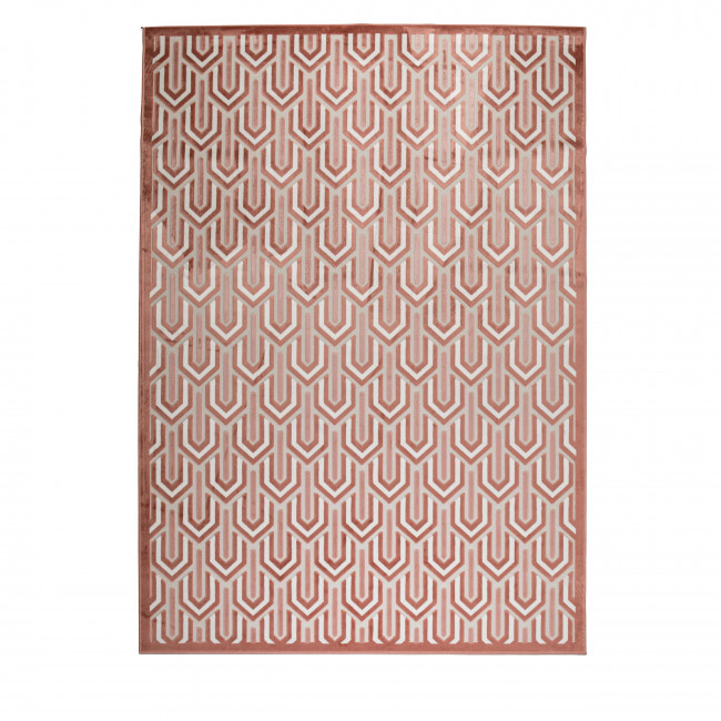 Beverly - Tapis art déco rose