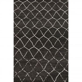 Crossley - Tapis design indoor/outdoor noir