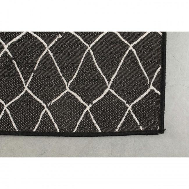 Crossley - Tapis design indoor/outdoor noir