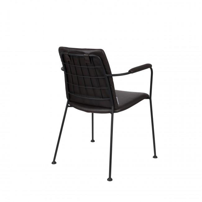 Fab - 2 fauteuils de table en tissu micro-perforé