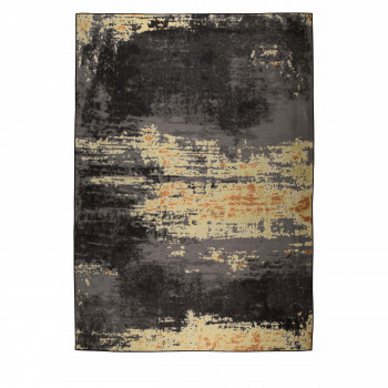 Ranger - Tapis design indoor/outdoor noir et or