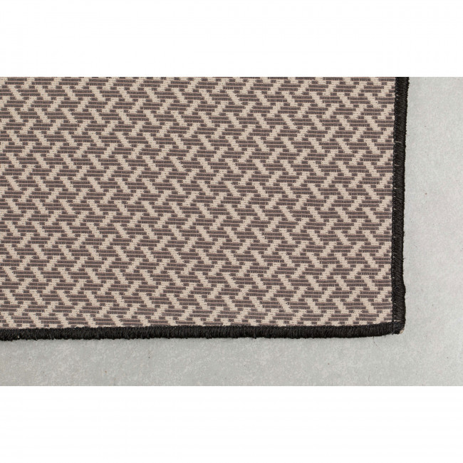Ranger - Tapis design indoor/outdoor noir et or