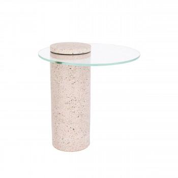 Rosalina - Table d'appoint ronde en terrazzo ø40cm