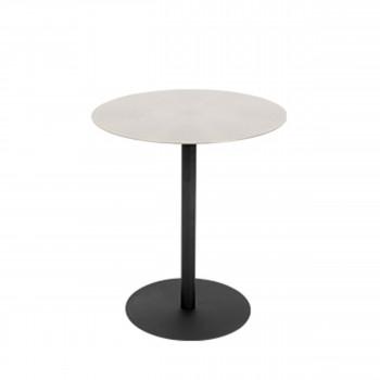 Snow - Table basse ronde en métal brossé ø40cm