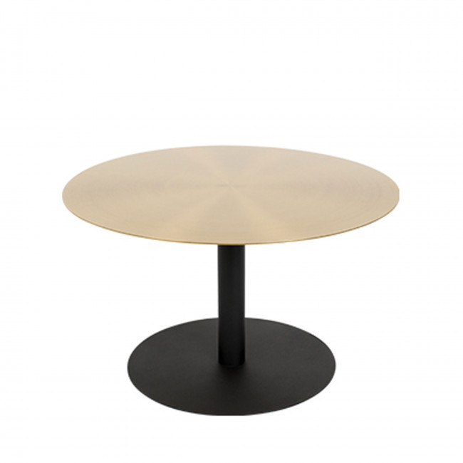 Snow - Table basse ronde en métal brossé ø60cm