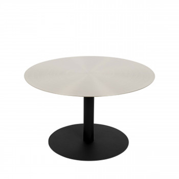 Snow - Table basse ronde en métal brossé ø60cm