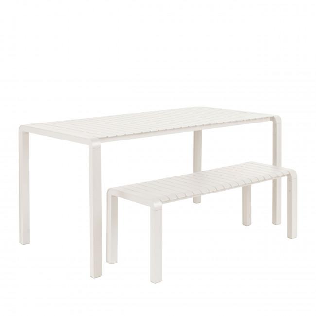 Vondel - Table à manger de jardin en métal 168,5x87cm