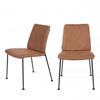 Fab - 2 chaises en tissu micro-perforé