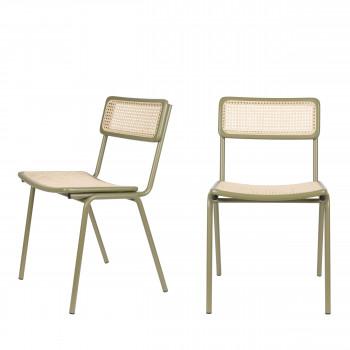Jort - 2 chaises en cannage