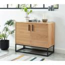 Ivica - Buffet 2 portes en bois et métal