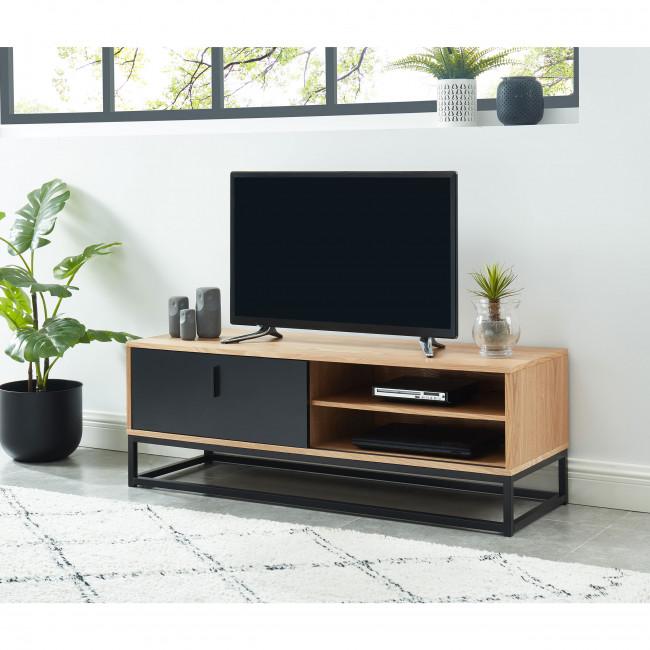 Ivica - Meuble TV en bois et métal